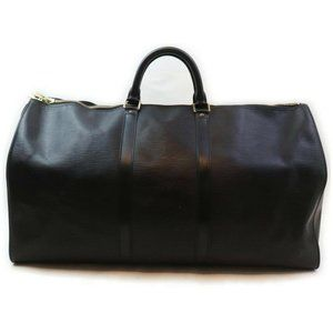 Louis Vuitton Black Epi Leather Noir Keepall 55